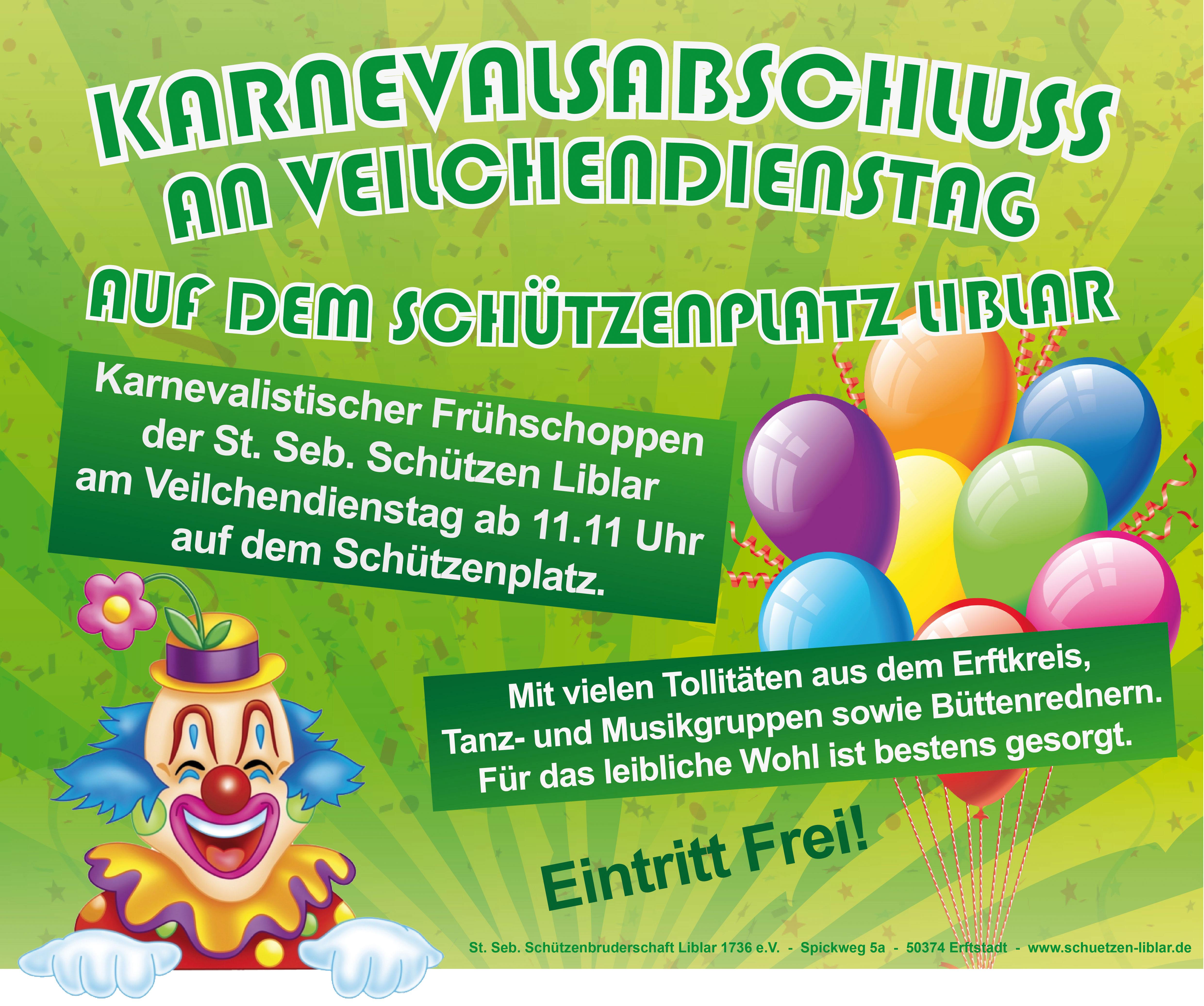 Karnevalsabschluss in Liblar