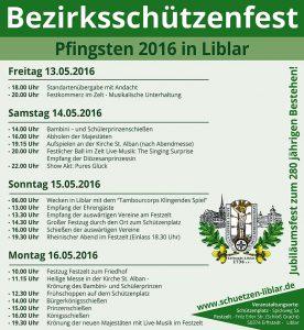 Festprogramm zu Schützenfest